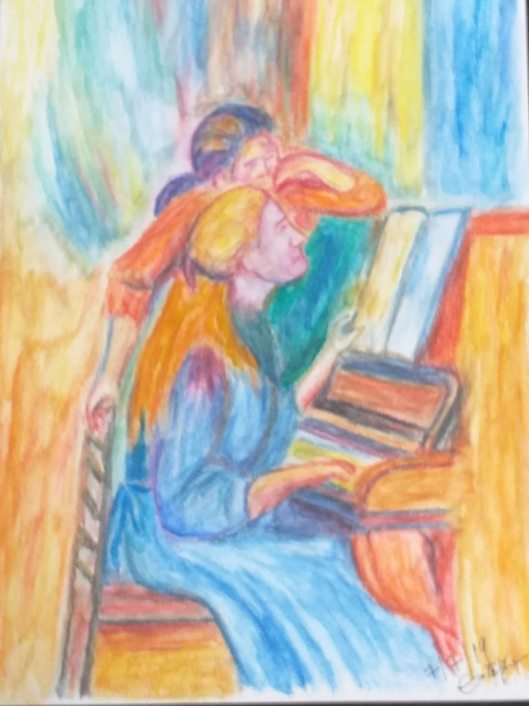 Piano Lesson - After Renoir